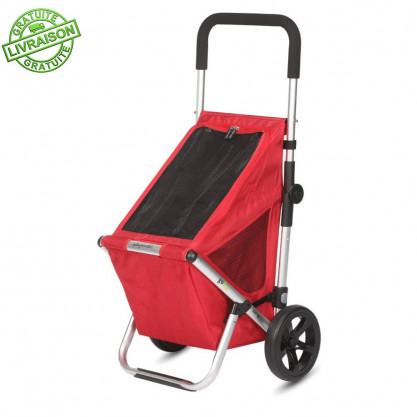 Chariot de courses Go Fun rouge