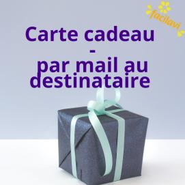 Carte cadeau - par mail directement au destinataire