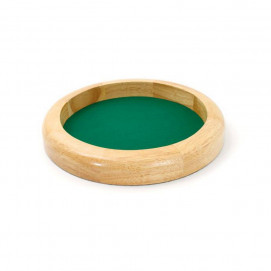 Piste de dés 30cm en bois naturel