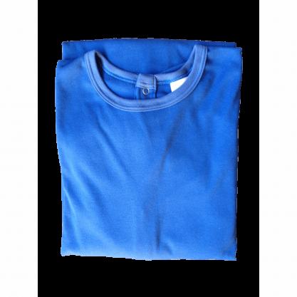 Chemise malade coton homme bleu roy