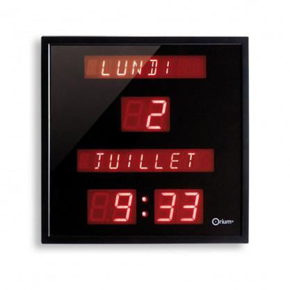 Horloge calendrier numérique français Orium