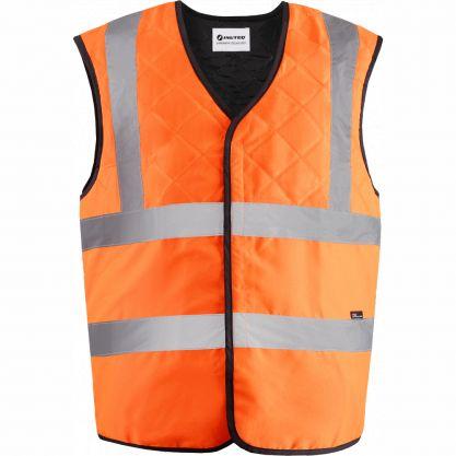 Gilet de sécurité rafraîchissant orange de face