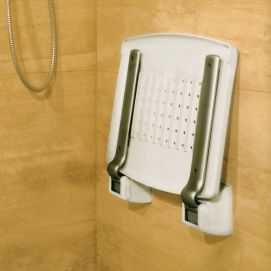 Strapontin douche Profilo sans pieds replié - 110 kg