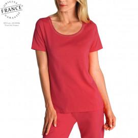 Tee-shirt fraîcheur femme manches courtes groseille