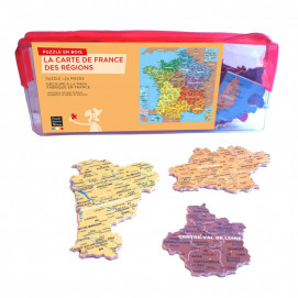 Puzzle d'art 24 grosses pièces Carte de France trousse