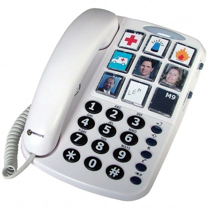 Téléphone amplifié à touches personnalisables