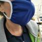 Masque tissu lavable fin porté