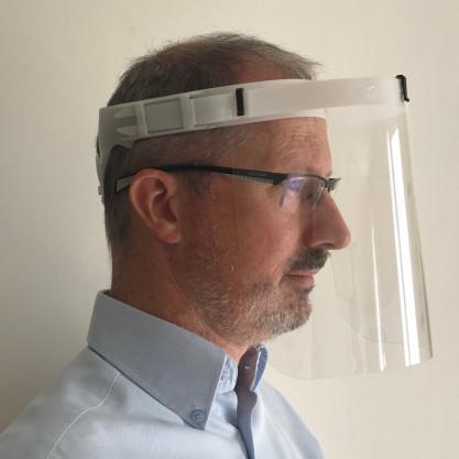 Visière de protection anti-postillons - avec port de lunettes