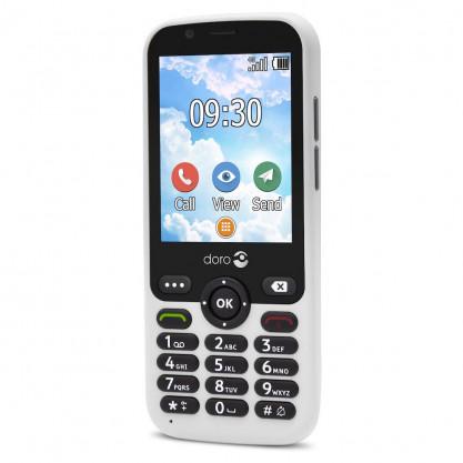 Doro 7010 téléphone mobile + blanc face