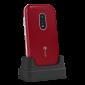 Doro 7030 téléphone Internet Rouge dans socle chargeur