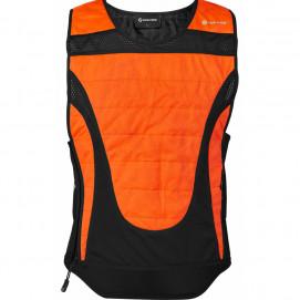 Gilet sport rafraîchissant BodycoolProX - orange devant
