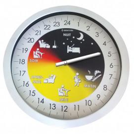 Horloge Alzheimer 24h