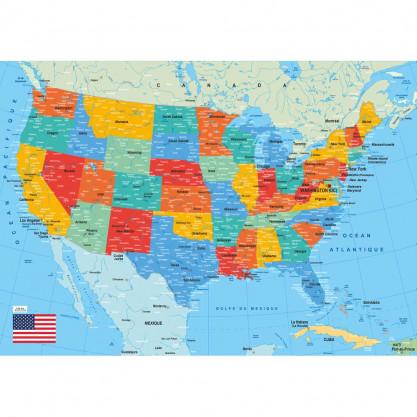 """Puzzle 50 pces """"Carte des USA"""""""