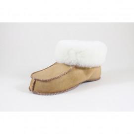 Chaussons mouton peau et peau lainée