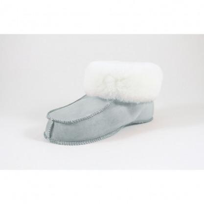 Chaussons mouton peau & peau lainée véritable