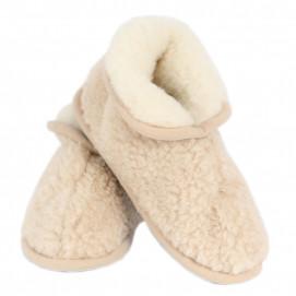 Chaussons clairs pure laine de mérinos