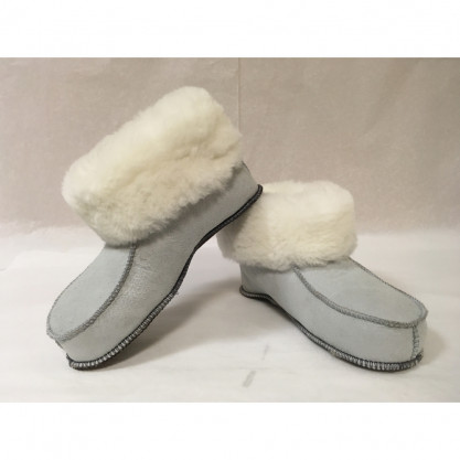 Chaussons mouton peau & peau lainée véritable présentation
