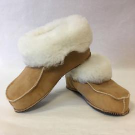Chaussons mouton peau et peau lainée présentation