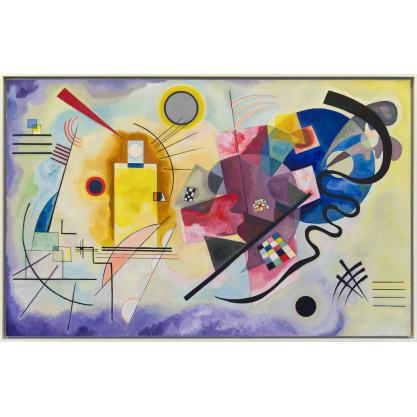"""Puzzle d'art en bois """"Jaune,Rouge,Bleu"""""""