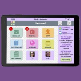 Tablette Facilotab Wifi accueil