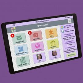 Tablette Facilotab Wifi écran accueil