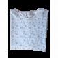 Chemise malade femme fleurette bleu