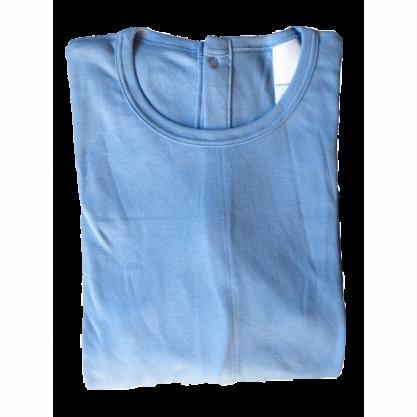 Chemise malade coton femme bleu ciel