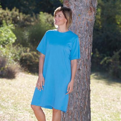 Chemise femme manches courtes dos croisé