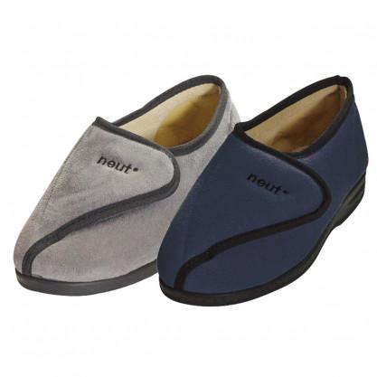 Chaussons pieds larges marine ou gris