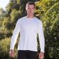 Tee-shirt homme manches longues dos croisé