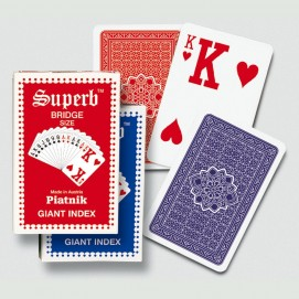 Jeu de cartes à jouer - Index géant - lisibilité maximum - Superb