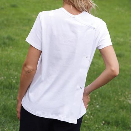 Tee-shirt homme manches courtes dos croisé