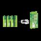 Piles AA rechargeables USB - Par 4 - Contenu boîte