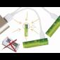 Piles AA rechargeables USB - Par 4 - Connexion