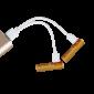 Piles AAA rechargeables USB - Par 4 - en charge