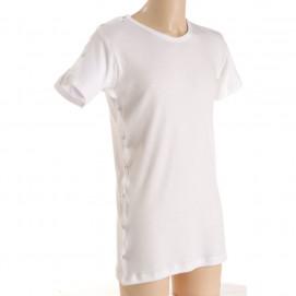 Tee-shirt médicalisé MC ouvert 1 côté femme