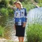 Jupe maille acrylique laine T 38 à 60 - noire