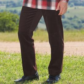 Pantalon velours ceinture confort du 38 au 68 marron zoom