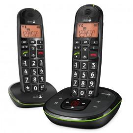 Téléphone fixe sans fil et répondeur Phone Easy 105wr duo Doro