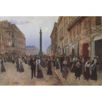 Puzzle d'art en bois - Rue de la Paix - vue du tableau