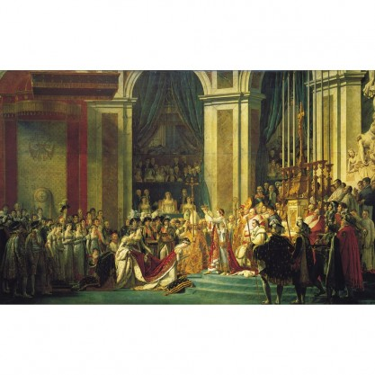 Puzzle d'art en bois - Le sacre de Napoléon - vue du tableau
