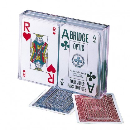 2 jeux de cartes très lisibles - Brigde Optic