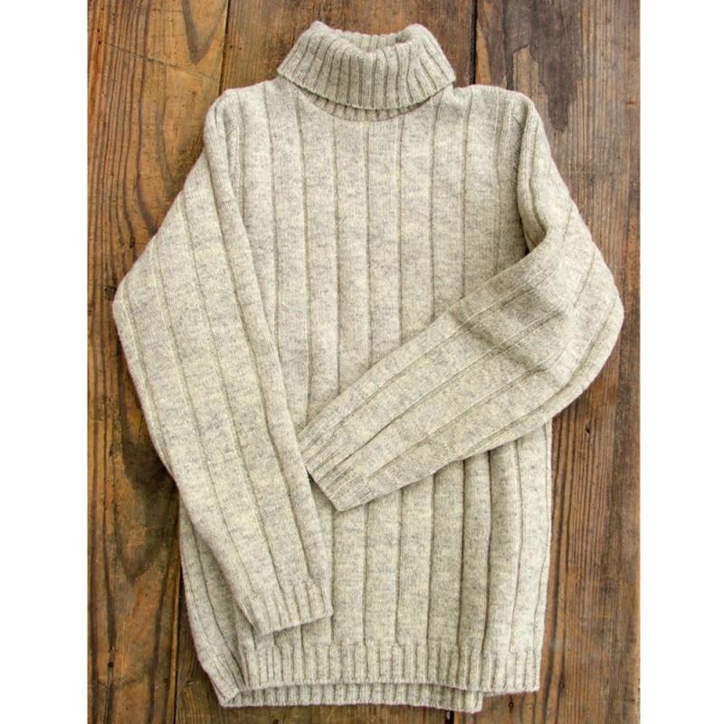 14c2fdda6482 Pull col roulé femme laine - Laine et tricot