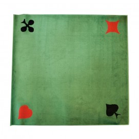 Tapis de cartes velours vert 4 as