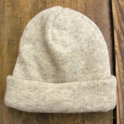 Bonnet classique clair en laine Ile de France (Mérinos et Dishley) chaleur et naturel