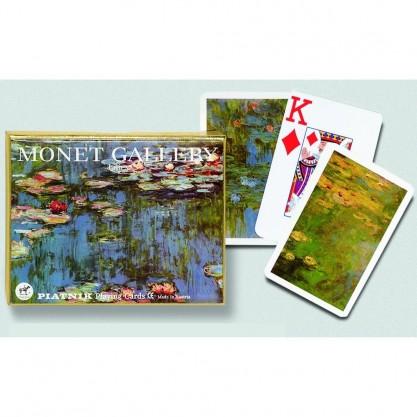 Coffret de 2 jeux de cartes très lisibles - Nénuphars de Monet