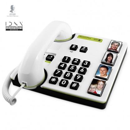 Téléphone à grosses touches MemoryPlus 319i ph Doro - vue dessus côté