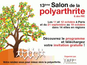 affiche du 13ème salon polyarthrite