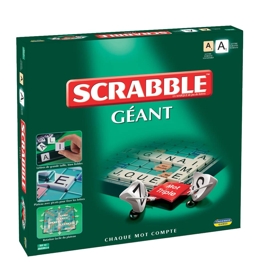 Scrabble Géant à grosses lettres - boîte