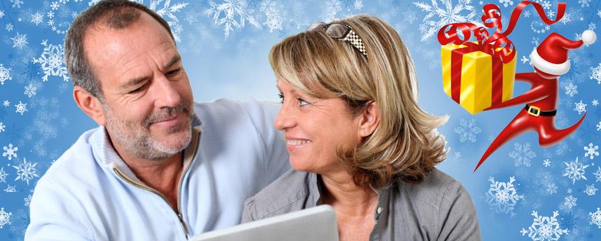 Couple de seniors Noël